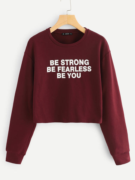 Be Fearless Crop Sweatshirt - Epethiya