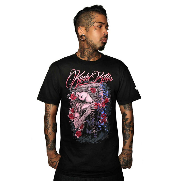 Butterflies & Roses Mens T-Shirt - Epethiya