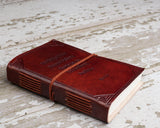 """Hardships And Extraordinary Journey"" Handmade Leather Journal - Epethiya"