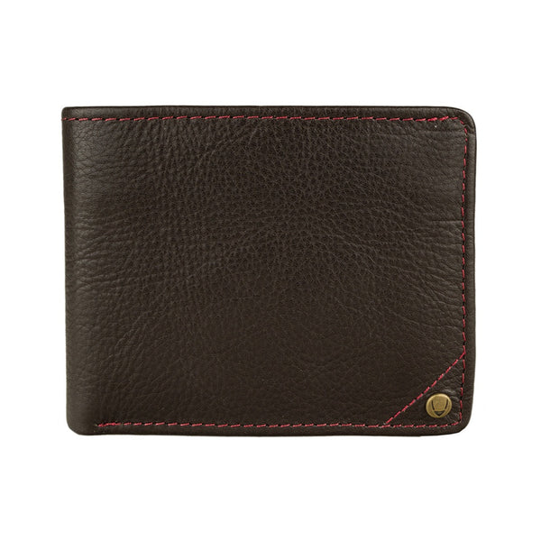 Hidesign Angle Stitch Leather Slim Bifold Wallet - Epethiya