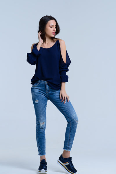 Jeans with rips details - Epethiya