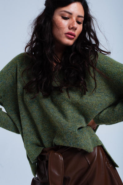 Oversized green sweater - Epethiya