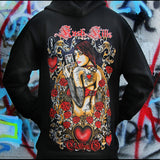 Queen Of Hearts Zip Hoodie - Epethiya