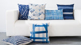 Blue Watercolor Geometric Cushion Cover - Epethiya