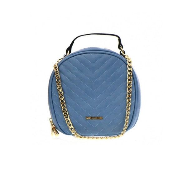 Women's Handbag Turquoise Round Shaped By David Jones - Epethiya