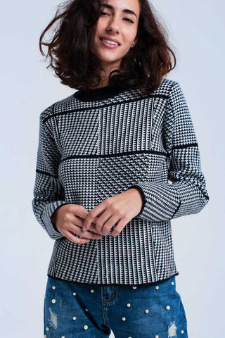 Black textured sweater - Epethiya