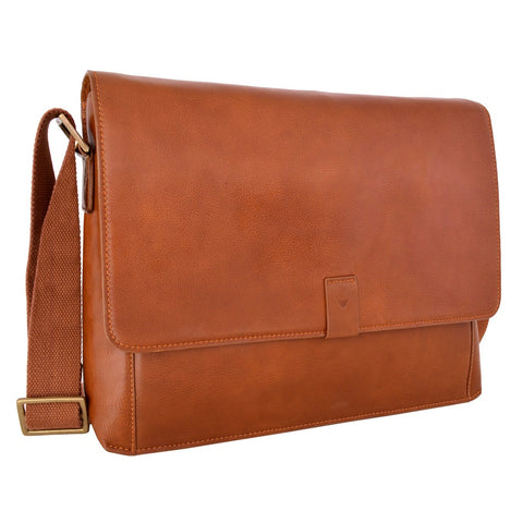 Aiden Leather Business Laptop Messenger Cross Body Bag - Epethiya