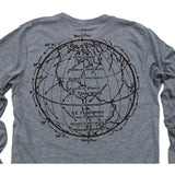 Trade Winds ll: Tri-Blend Long Sleeve T-Shirt in Heather Grey - Epethiya