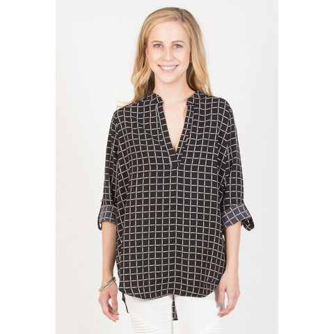 Grid Pattern Blouse