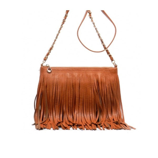 Women's Handbag Fringe Leather And Crossbody - Epethiya