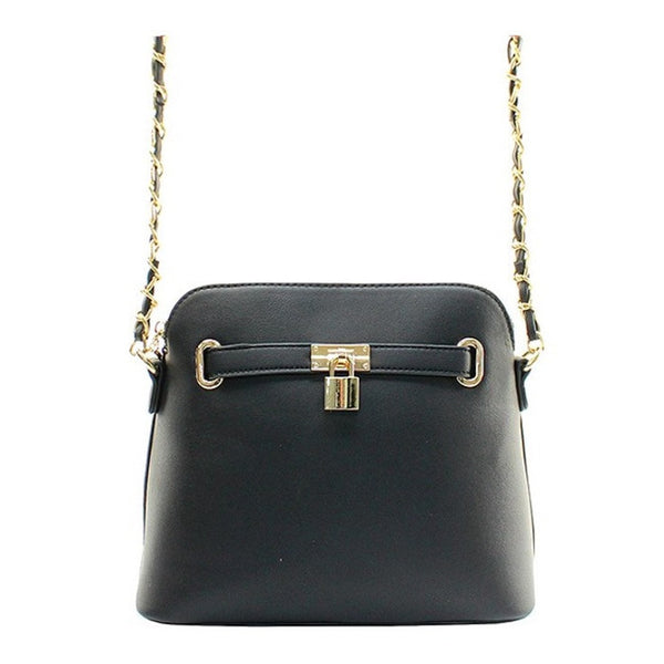 Women's Handbag Black Padlock Messenger Shoulder Handbag - Epethiya