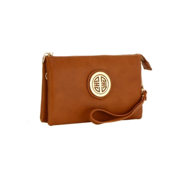 Women's Clutch Leather Tan Purse - Epethiya