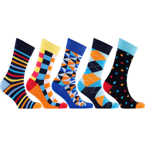 Men's 5-Pair Fun Mix Socks - Epethiya