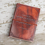 """A Daring Adventure"" Handmade Leather Journal - Epethiya"
