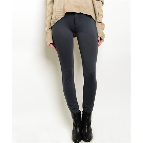Women's Skinny Pants - Dark Grey - Epethiya