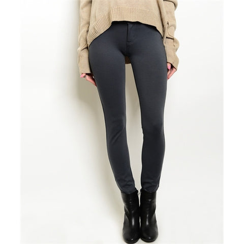 Women's Skinny Pants - Dark Grey