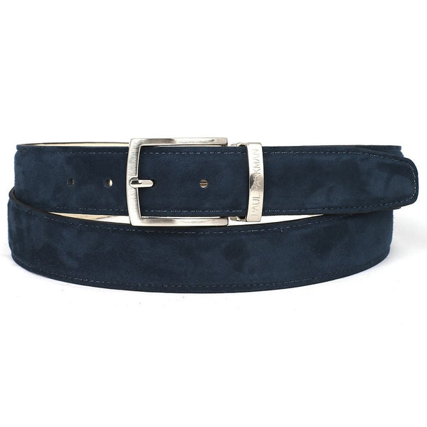 PAUL PARKMAN Men's Navy Suede Belt (ID#B06-NAVY) - Epethiya