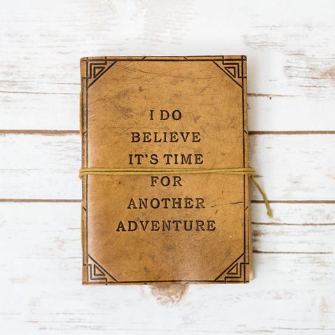 Another Adventure Blonde Handmade Leather Journal - Epethiya