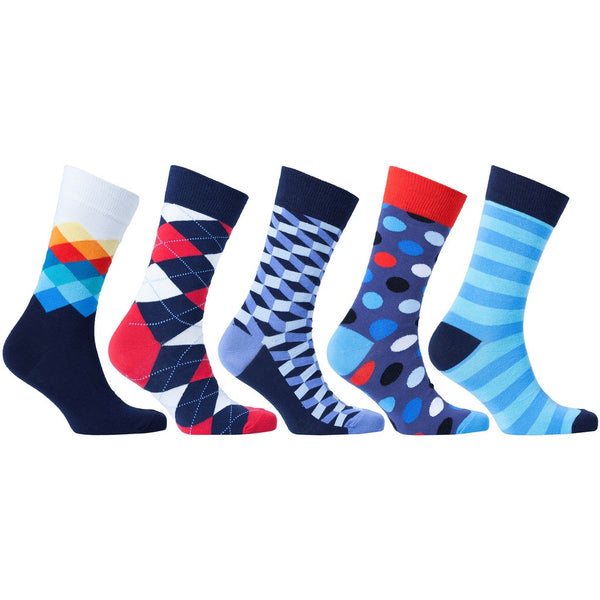 Men's 5-Pair Colorful Mix Socks - Epethiya