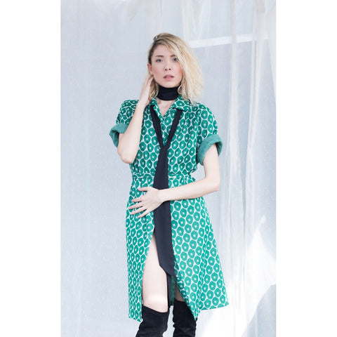 Green trench coat - Epethiya
