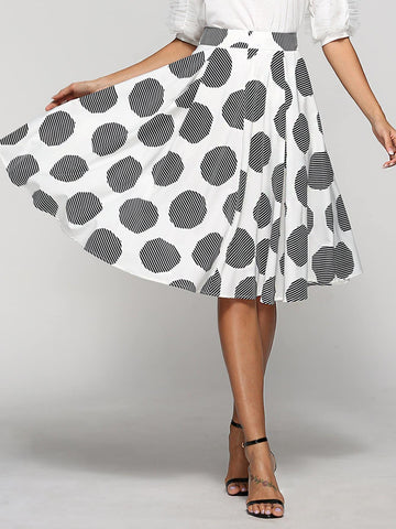 Polka Dot Pleated Skirt - Epethiya