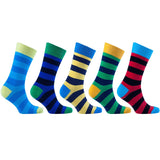 Men's 5-Pair Colorful Striped Socks - Epethiya