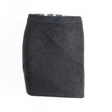 Vintage Leather Suede Pencil Skirt - Epethiya