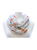 Orange Glitter Heart Wide Infinity Scarf Lightweight - Epethiya