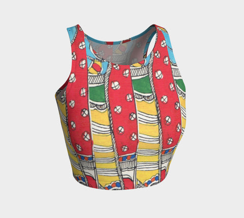 Vibrant Geometric Stripes Athletic Top - Epethiya