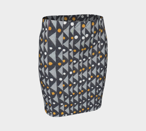 Geometric Rhapsody Fitted Skirt - ePethiya
