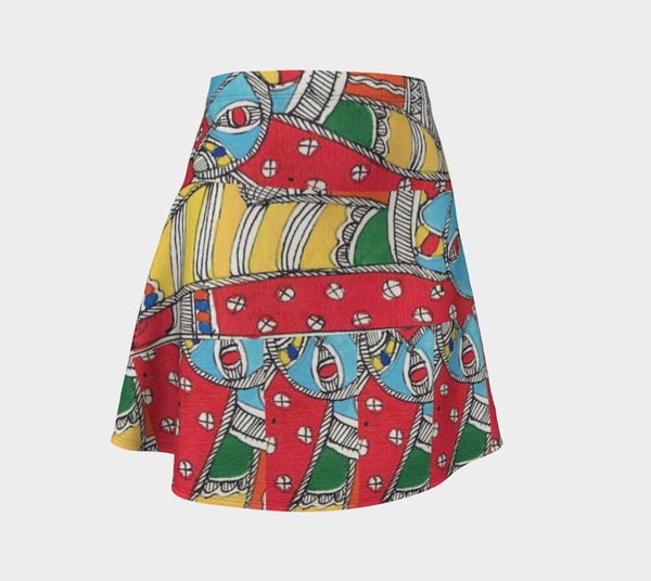 Color Me Abstract Flare Skirt - Epethiya