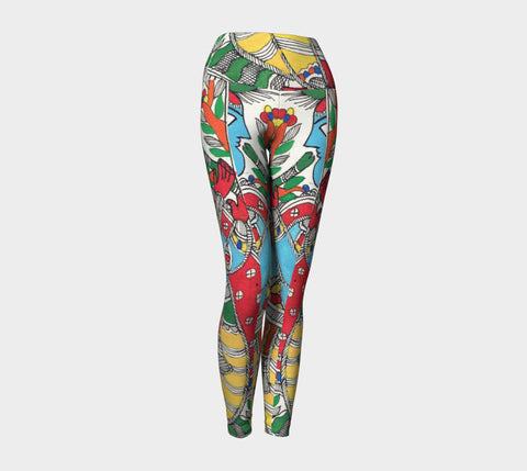 Bold and Brazen Abstract Yoga Leggings - Epethiya