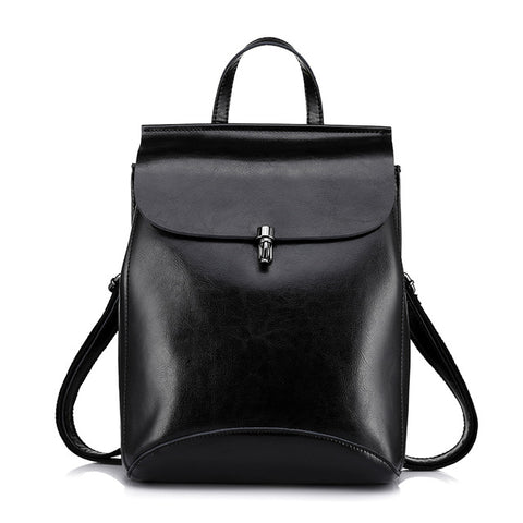 Epethiya Vintage Leather School Backpack