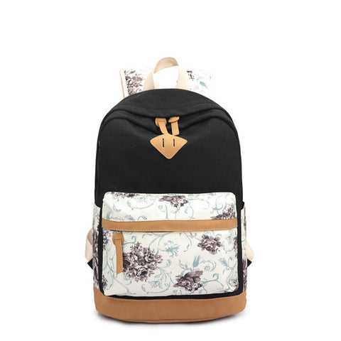 Epethiya Floral School Backpack - Epethiya