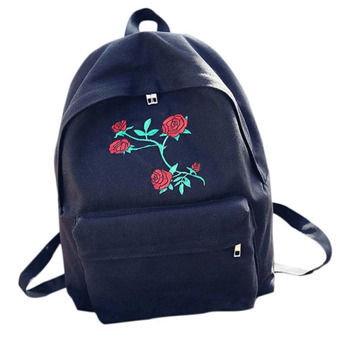 Epethiya Embroidery Flowers Backpacks - Epethiya