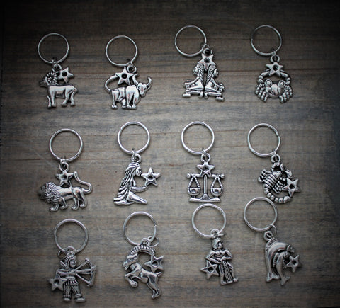 Silver Horoscope Hair Charms