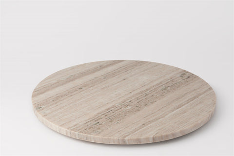 NEW - MARBLE LAZY SUSAN - SM - BEIGE