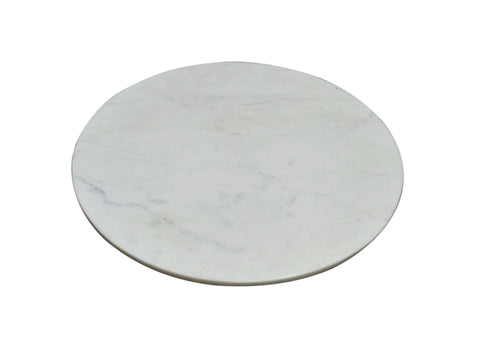 NEW - MARBLE LAZY SUSAN - LG- WHITE