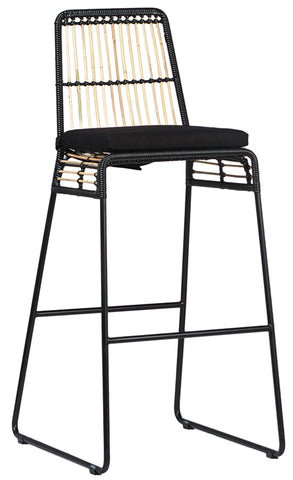 KEZANI BAR/COUNTER STOOL - BLACK FRAME
