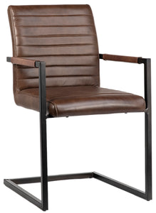 FAB   DINING CHAIR - BROWN