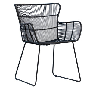 DELFINA DINING CHAIR - BLACK