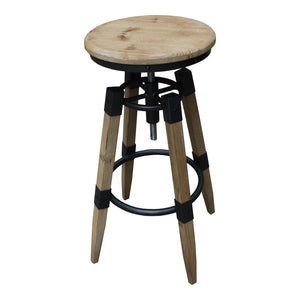 QUAD ADJUSTABLE STOOL - NATURAL