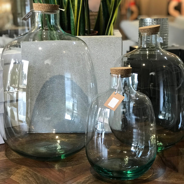 NEW - RECYCLED GLASS JARS