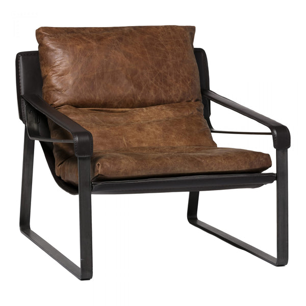 CONNOR CLUB CHAIR - BROWN