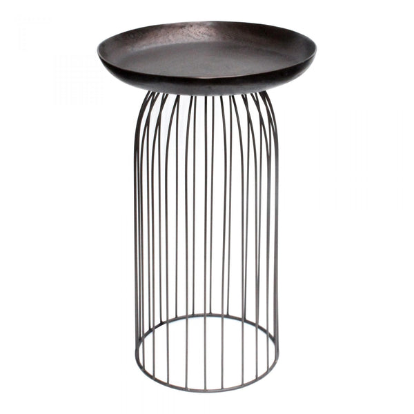AVIARY ACCENT TABLE - DARK BRONZE