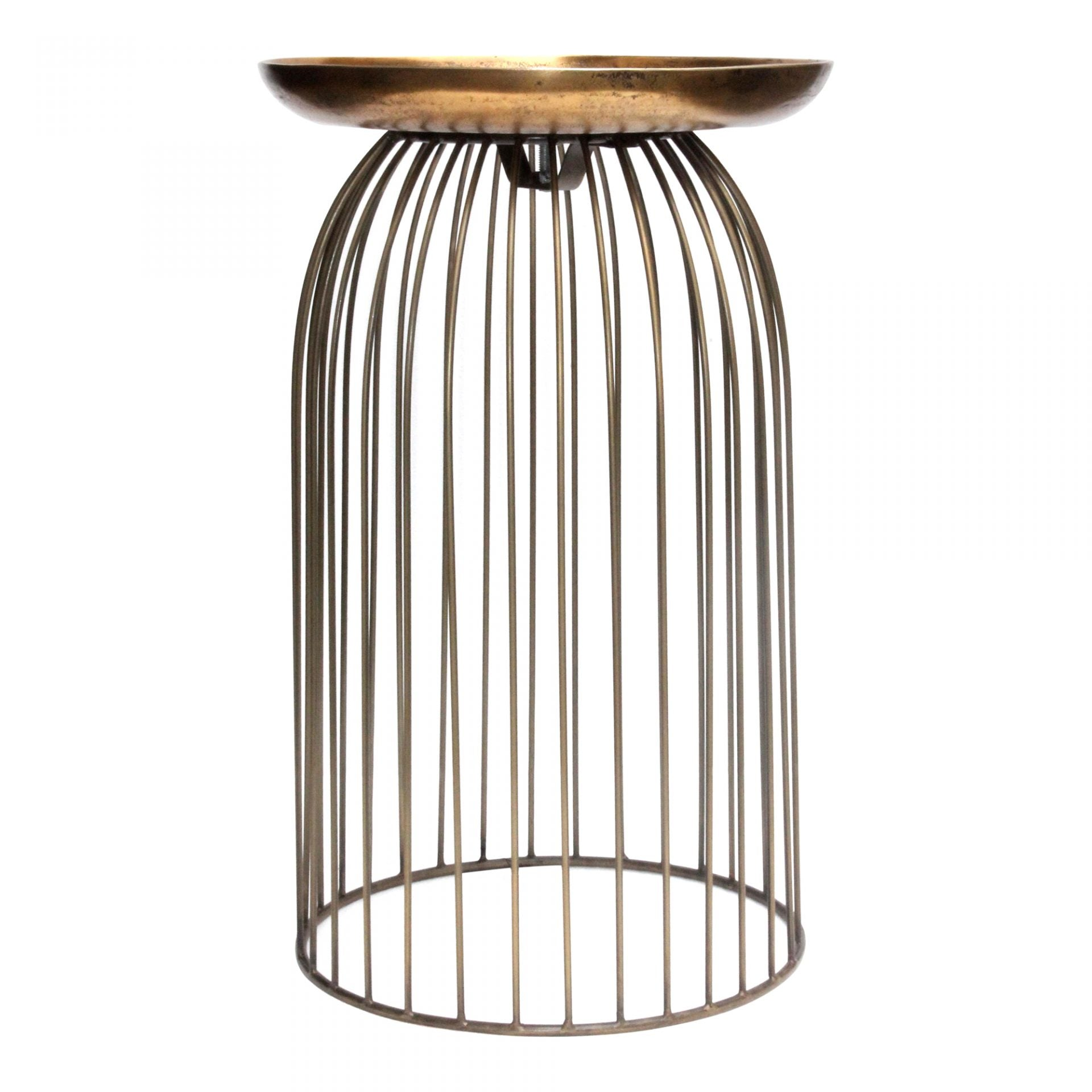 AVIARY ACCENT TABLE - ANTIQUE BRASS