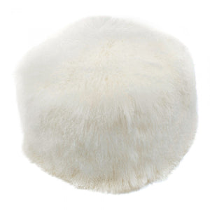 LAMB FUR POUF NATURAL