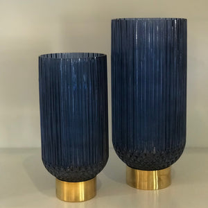 DECORATIVE VASE - RIBBED