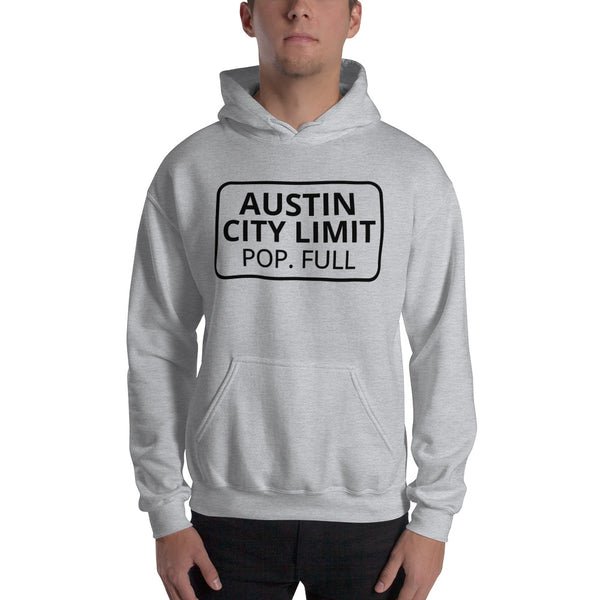 Austin Texas Population Full Hooded Sweatshirt
