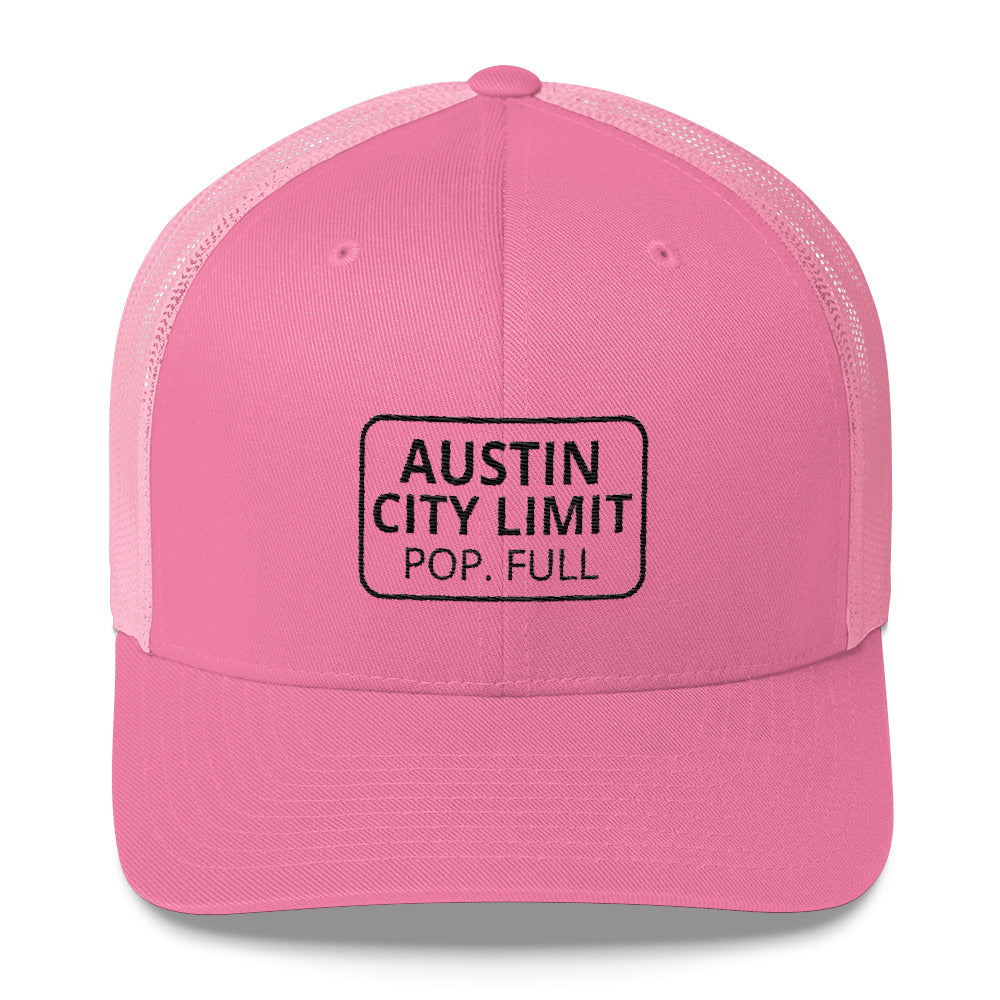 Austin Polulation Full Trucker Cap Full Color
